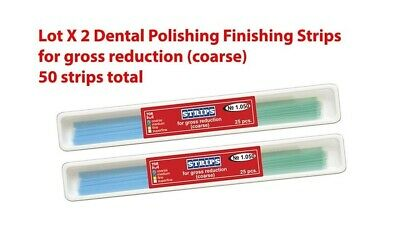 Lot X 2 Dental Polishing Finishing Strips for gross reduction coarse 25pcs pack