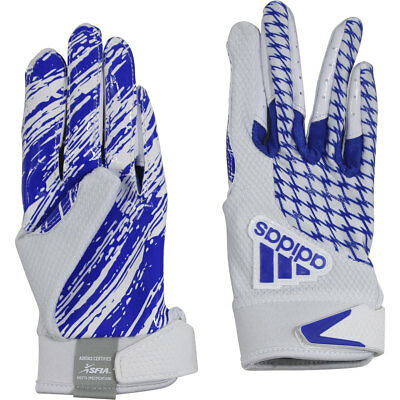 Adidas Boy's Youth adiFAST 2.0 White/Royal Padded Football Gloves