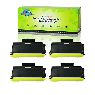 4PK TN580 High Yield Toner Cartridge For Brother HL-5240 HL-5250 5270DN 5280DW