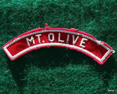 Vintage  Boy Scout  - Red & White Town Strip - Mt. Olive
