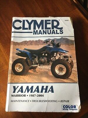 Used Clymer Yamaha YFM350X Warrior 1987-2004 ATV Repair Manual/Guide