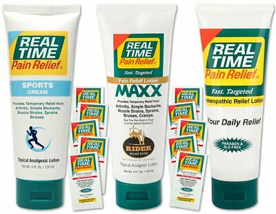 Real Time Pain Relief Active Pack, Sports Cream, Daily, MAXX, 10 Travel Packs