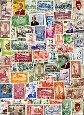 Morocco - Morocco 100 stamps different