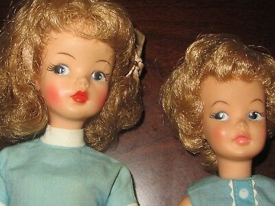 Vintage Ideal Tammy and Pepper dolls, lot of 2 Both with Original Dress