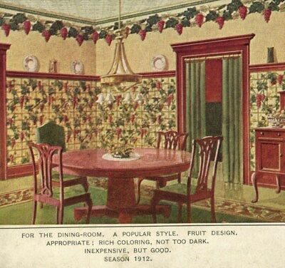 1912 Interior Design Youngstown Ohio OH Victorian Trade Private Mailing Card