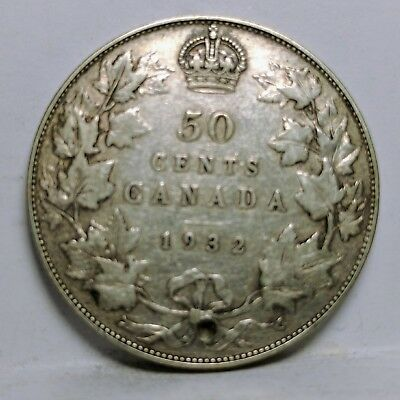 Canada 1932 Silver 50 Fifty Cents Coin