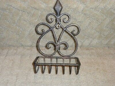Wrought Iron Wall Mounted Soap Dish Antique Vintage Style Victorian French