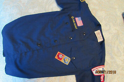 BSA Cub Scout Blue Uniform Shirt Size Youth Small