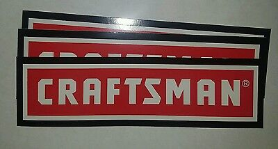 "3 Craftsman Tool decals Red Car Bumper Window Tool Box Sticker USA 8""X2.25"""