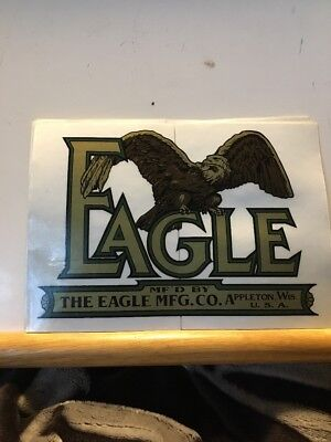 Eagle Tractor The Eagle Manufacturing Company Appleton Wisconsin Decal  Repop DB