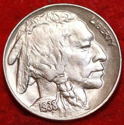 Uncirculated 1938-D/S Mint Buffalo Nickel