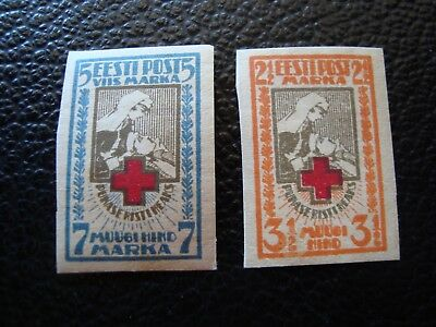 ESTONIA - stamp yvert and tellier N° 47 48 n HD (ONE SIZE)