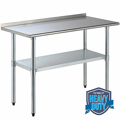 "24"" x 48"" Stainless Steel Work Prep Table w/Backsplash Kitchen Restaurant"