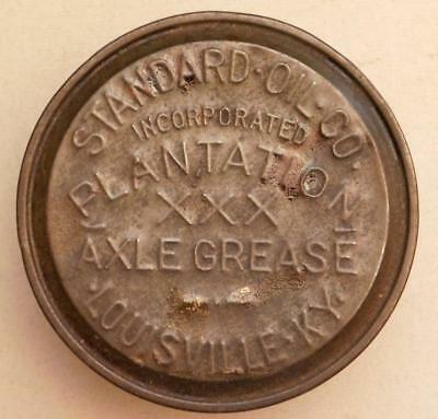 Antique Standard Oil Plantation Axle Grease Tin Buggy & Wagons Louisville Cs3-2c
