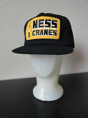 """Vtg """"Ness Cranes"""" Baseball Cap Insulated Snap Back Hat K-Products Usa"""