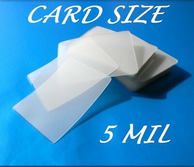 Card Size Laminating Pouches Laminator Sheets 25 pk 2.56 x 3.75 5 Mil Quality