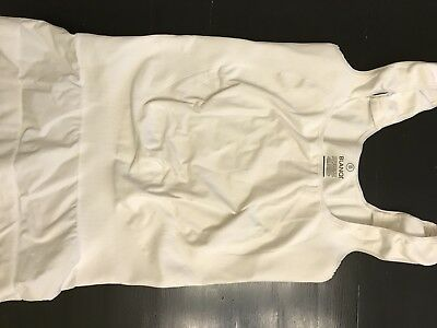 Blanqi Underbust Maternity Support Tank, White, size Large