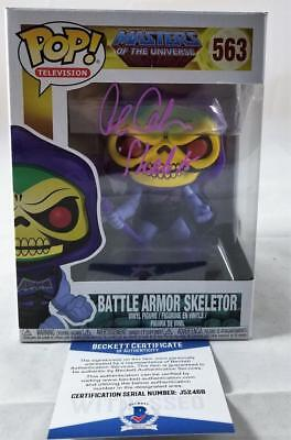 Alan Oppenheimer Skeletor Signed Funko Pop Motu Bas Coa 468