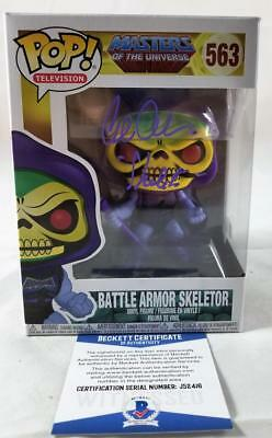 Alan Oppenheimer Skeletor Signed Funko Pop Motu Bas Coa 416