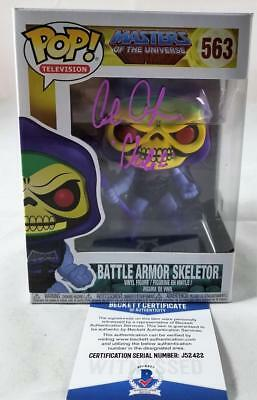 Alan Oppenheimer Skeletor Signed Funko Pop Motu Bas Coa 422
