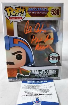 Alan Oppenheimer Man-At-Arms Signed Funko Pop Motu Bas Coa 485
