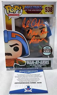 Alan Oppenheimer Man-At-Arms Signed Funko Pop Motu Bas Coa 491
