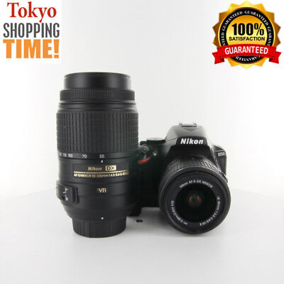 [NEAR MINT+++] Nikon D5500 Body + Double Lens Kit from Japan