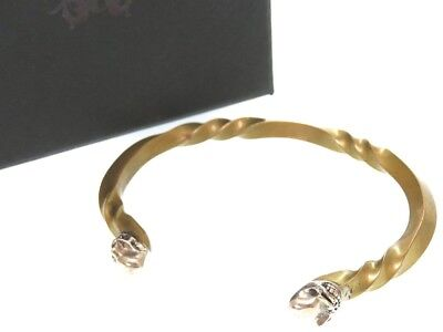 AUTHENTIC STARLIN GEAR New Twisted Skull Bangle Silver 0213