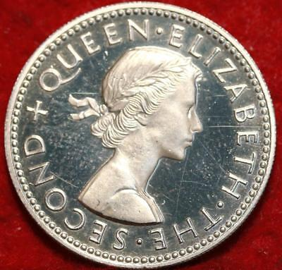 1965 New Zealand Shilling Proof Coin