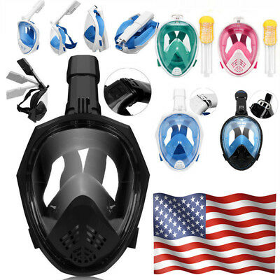 Full Face Snorkel Diving Mask Scuba Snorkeling Anti-Fog Free Breath Watersports