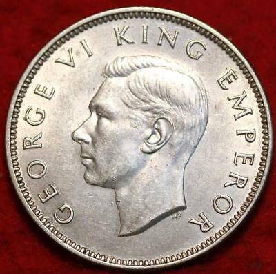 Uncirculated 1944 New Zealand Florin Silver Foreign Coin