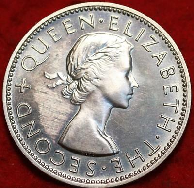Uncirculated Proof 1953 New Zealand Florin Foreign Coin