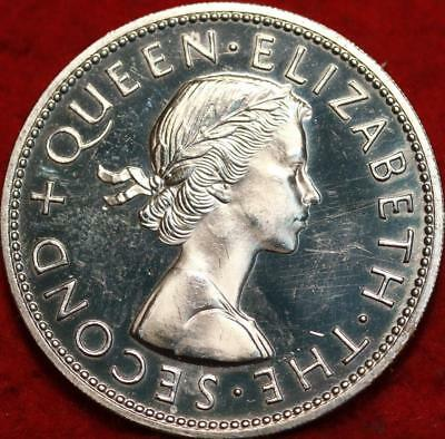 Uncirculated 1965 New Zealand 1/2 Crown Proof Foreign Coin