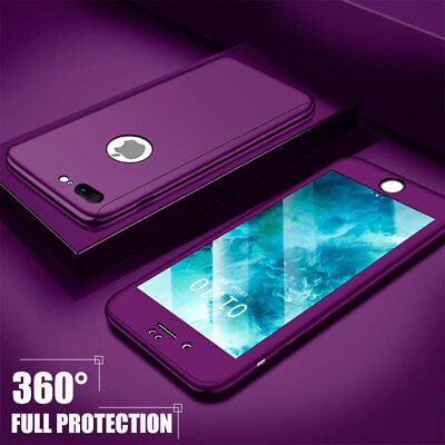 360° Full Body Armor Shockproof Hybrid Rugged Case Cover For iPhone XR 8 7 6Plus