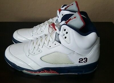 5e4d0dd796f1bc DS NEW 2011 NIKE AIR JORDAN 5 V RETRO Olympic Independence Day 136027-103 sz