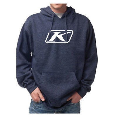 Klim Icon Pullover Hoodie Blue Mens All Sizes