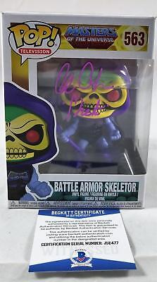 Alan Oppenheimer Skeletor Signed Funko Pop Motu Bas Coa 477