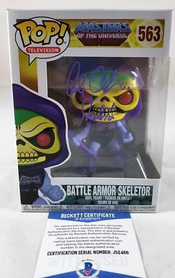 Alan Oppenheimer Skeletor Signed Funko Pop Motu Bas Coa 466
