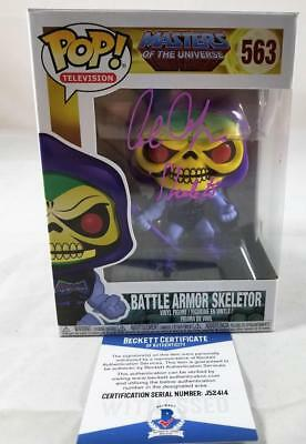 Alan Oppenheimer Skeletor Signed Funko Pop Motu Bas Coa 414