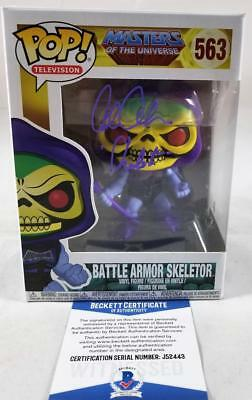 Alan Oppenheimer Skeletor Signed Funko Pop Motu Bas Coa 443