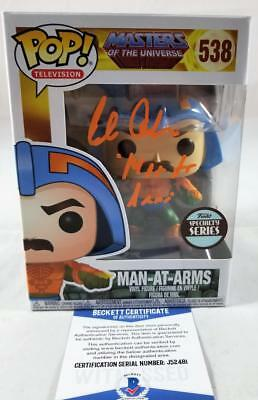 Alan Oppenheimer Man-At-Arms Signed Funko Pop Motu Bas Coa 481