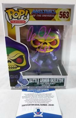 Alan Oppenheimer Skeletor Signed Funko Pop Motu Bas Coa 421