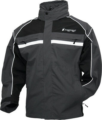 Frogg Toggs 2016 Adult Pilot Illuminator Waterproof Rain Jacket Black S-2XL