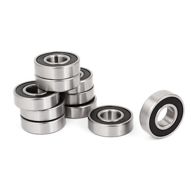 Double Rubber Seals Groove Wheel 6001-RS 6001RS Ball Bearing 12x28x8mm 10 Pcs