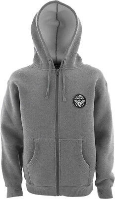 Slednecks Snowmobile Warriors Heavyweight Zip-Up Hoodie Heather Grey Men Size M
