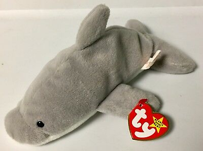 TY FLASH THE DOLPHIN BEANIE BABY~1993~STYLE 4021~Rare Retired~NWT ... cdd525a3c73