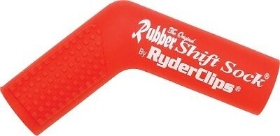 Ryder Clips Rubber Motorcycle Shift Sock Shifter Cover Red