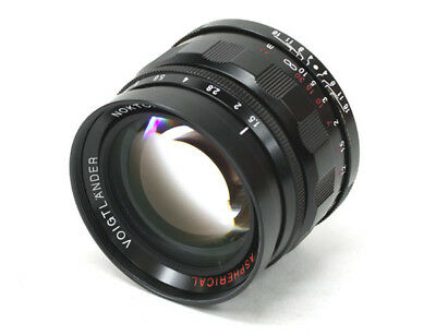 Voigtlander Nokton L 50 mm F/1.5 Aspherical Lens - Black