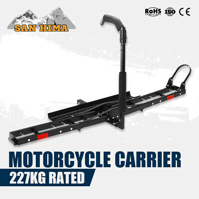Motorcycle Rack Carrier For Car Rear Towbar Hitch Mount Foldable Arm 2 inch