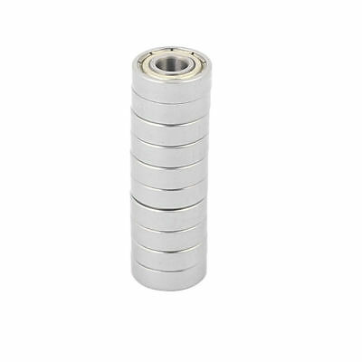 10 Pcs Metal Deep Groove Sealed Shielded Ball Bearing 5mmx13mmx4mm Silver Tone
